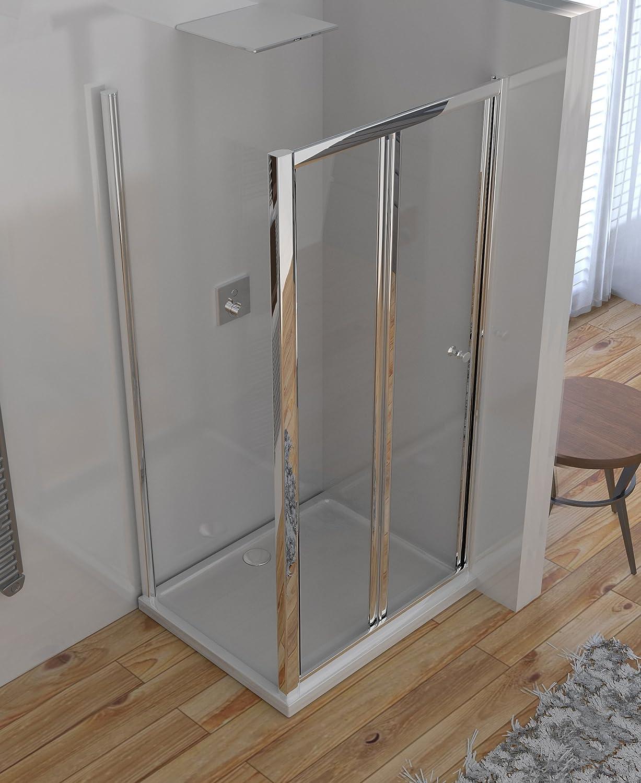 Olimpo duchas ene-70 X 70 ducha puerta a libro Fuelle anti cal, transparente, juego de 2 piezas: Amazon.es: Bricolaje y herramientas