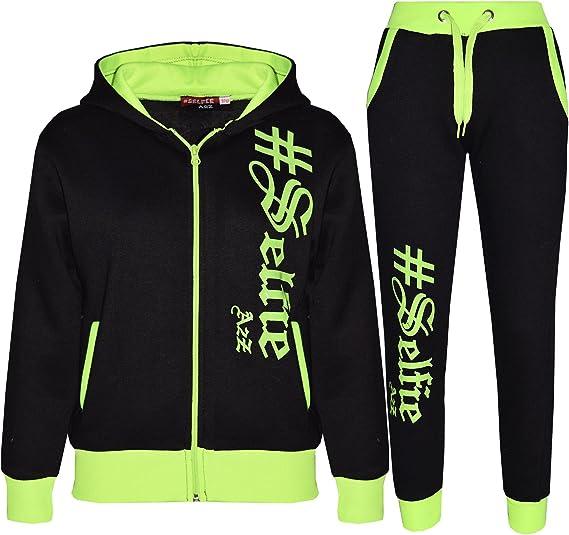 A2Z 4 Kids Kids Jogging Suit Boys Girls Designers #Selfie Top Bottom Tracksuit Age 5-13 Yr