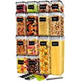 14 Pack Cereal Containers Storage Set, DDF iohEF Airtight Food Containers, Kitchen Pantry Organization and Storage, BPA Free