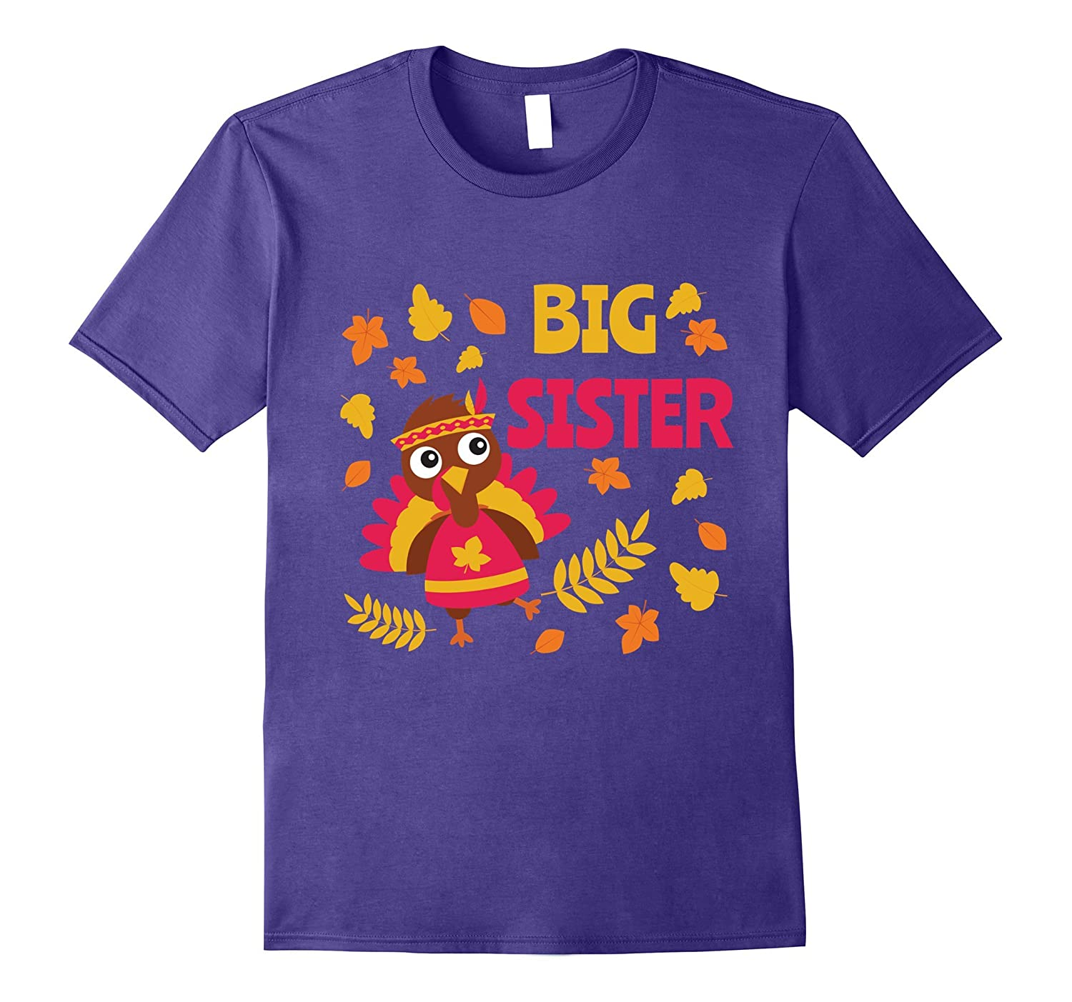 Cute Big Sister Thanksgiving Shirt For Girls-Rose