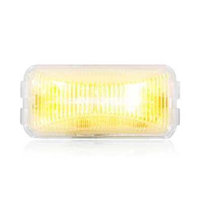 "Maxxima M20320YCL Amber 2-1/2"" Rectangular LED Clear Lens Clearance Marker Light: Automotive"