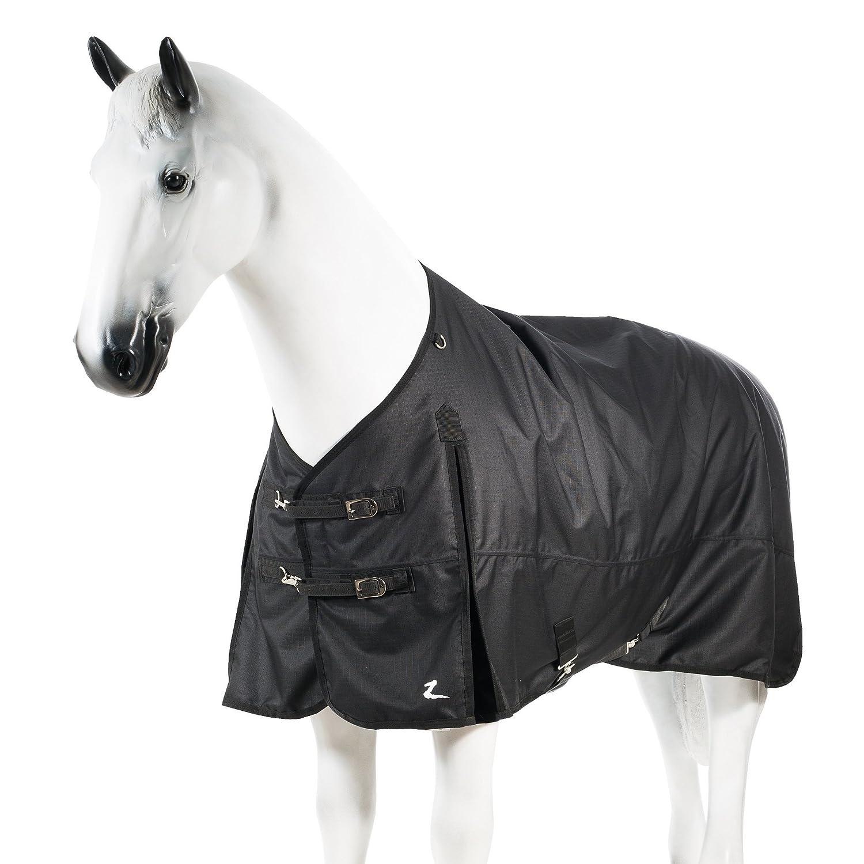 Horze Nevada 1200D Waterproof Medium Weight Turnout Blanket 200g Black 69