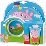 Joy Toy 748690 Peppa Pig Melamine Plate, Bowl and Cup Set