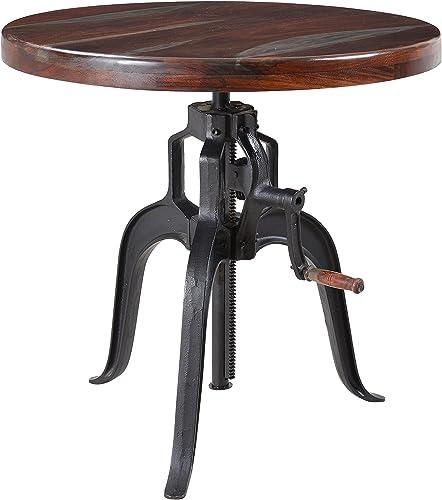 Treasure Trove Grey Top Black Legs Adjustable Accent Table