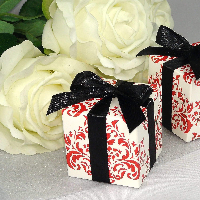 Einssein 12x Caja de Regalo Boda Morocco Cajas Bonitas para cajitas Regalos Bombones Carton bolsitas Papel chuches Bodas Bautizo pequeñas pequeña recordatorios comunion Navidad Decorar Invitaciones: Amazon.es: Hogar
