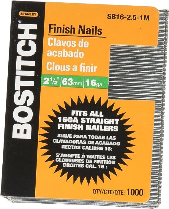 "2,500 ct 1 1//2/"" 16 Gauge Straight Finish Nails 1.5 inch 16 ga"