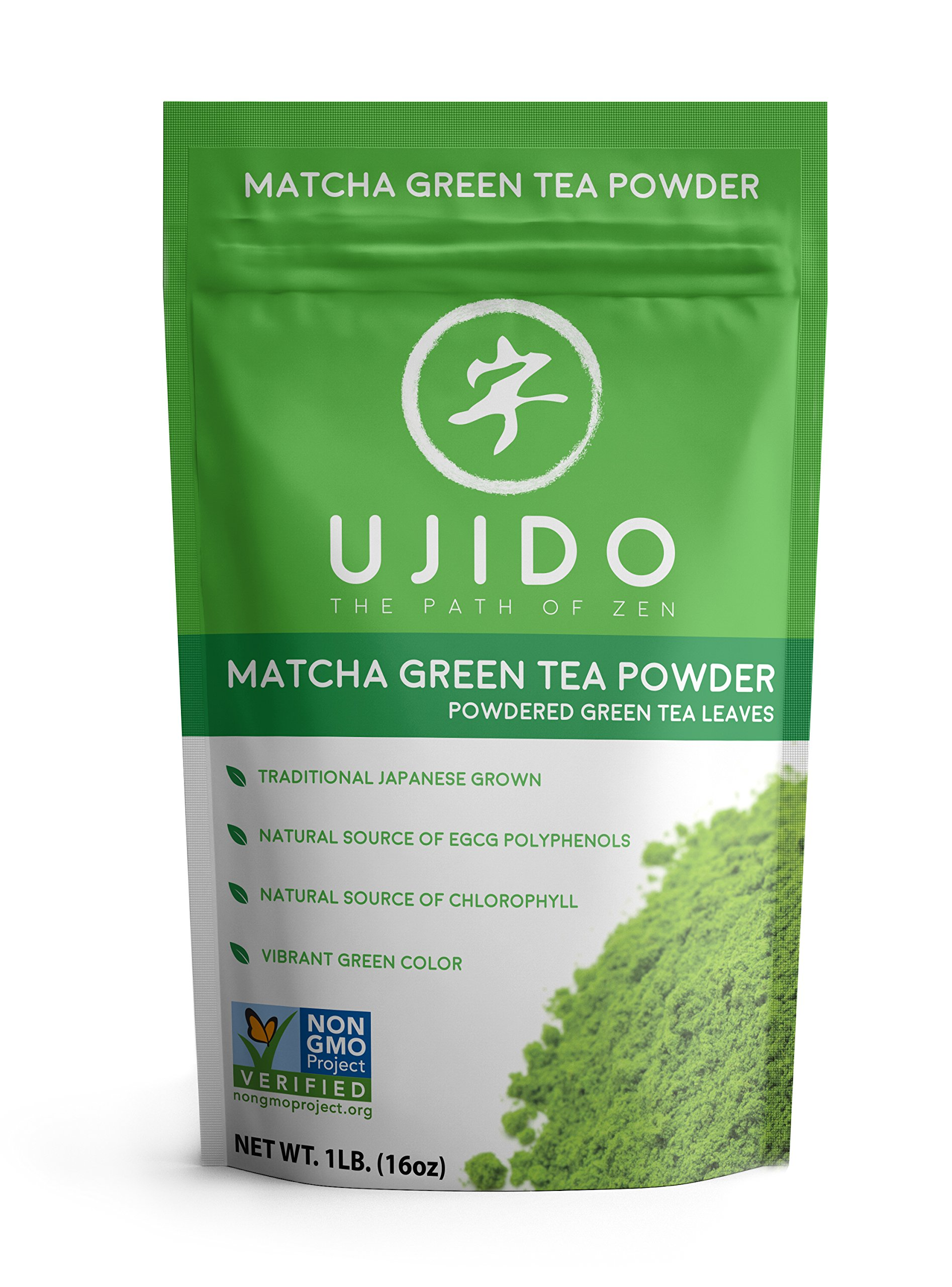 Ujido Japanese Matcha Green Tea Powder (16 oz) by Ujido