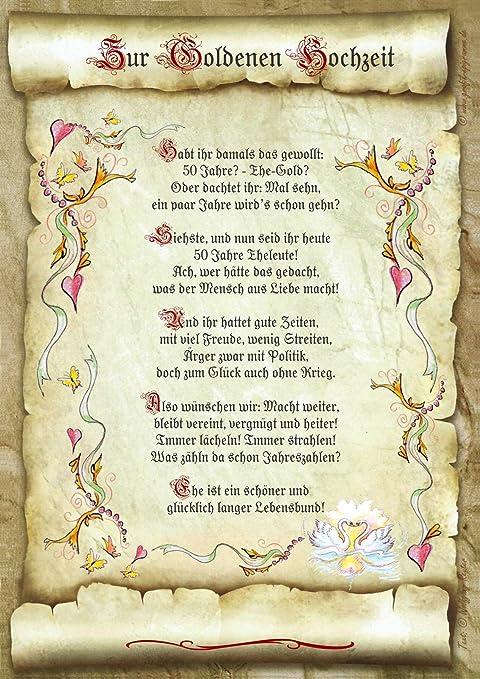 Spruch Goldene Hochzeit Eltern Spruch Zur Goldenen
