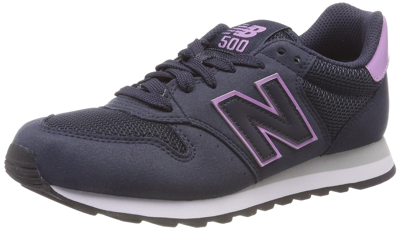 New Balance 500, Zapatillas para Mujer 43 EU|Azul (Navy/Purple Rnp)