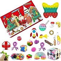 Fidget Toy Fidget Advent Calendar 2021 Christmas Countdown Calendar 24 Days Sensory Fidget Toys Set Gift Boxes for Kids…