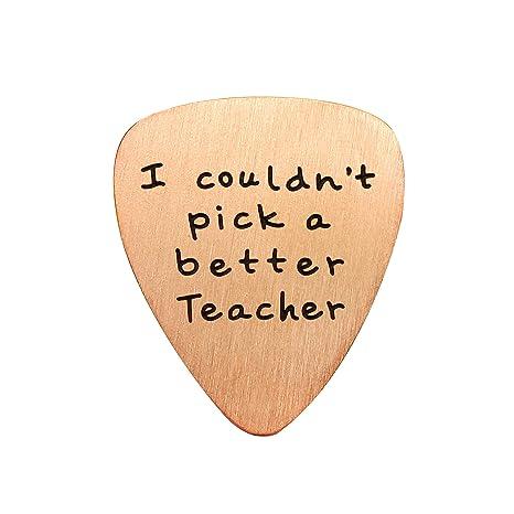 Colgante de graduación para guitarra de profesor con texto en ...