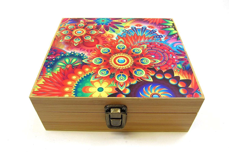 Flowers Storage Jar Label- Skull Herb Stash Box Set All in One Combo Metal Grinder