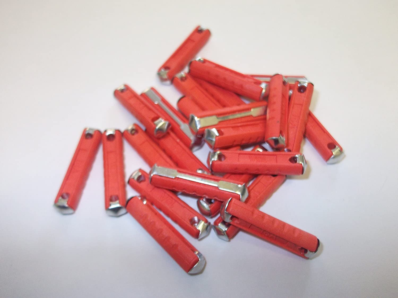 Innovo 24 x 16 amp rosso ceramica fusibili fusibili continentale Torpedo Classic car Bullet auto marine Van