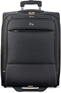 Solo New York Urban Rolling Laptop Bag. Carry-On Rolling Overnighter Case for Women and Men. Fits up to 15.6 inch laptop - Black