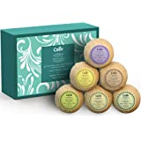 Bath Bombs (Set of 6) by Calily - Natural Bath Bombs To Indulge, Relax and Nourish Senses, Skin, Body and Spirit - Bath Bomb Kit With Six Different Essential Oil Bath Bombs - Gluten-Free & Vegan