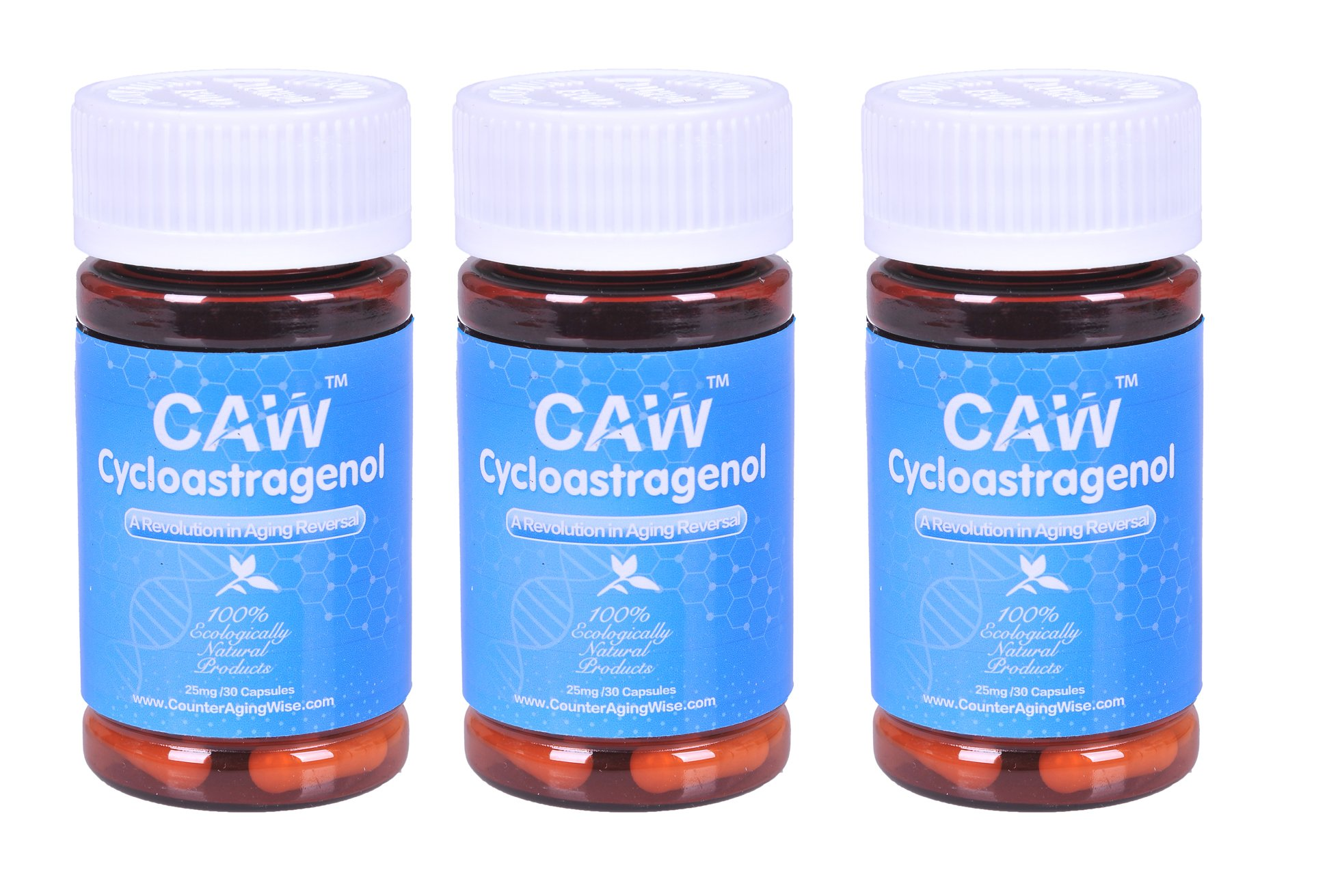 CAW Hypersorption Cycloastragenol | 25Mg 30Enteric-coated Capsules 3 bottle