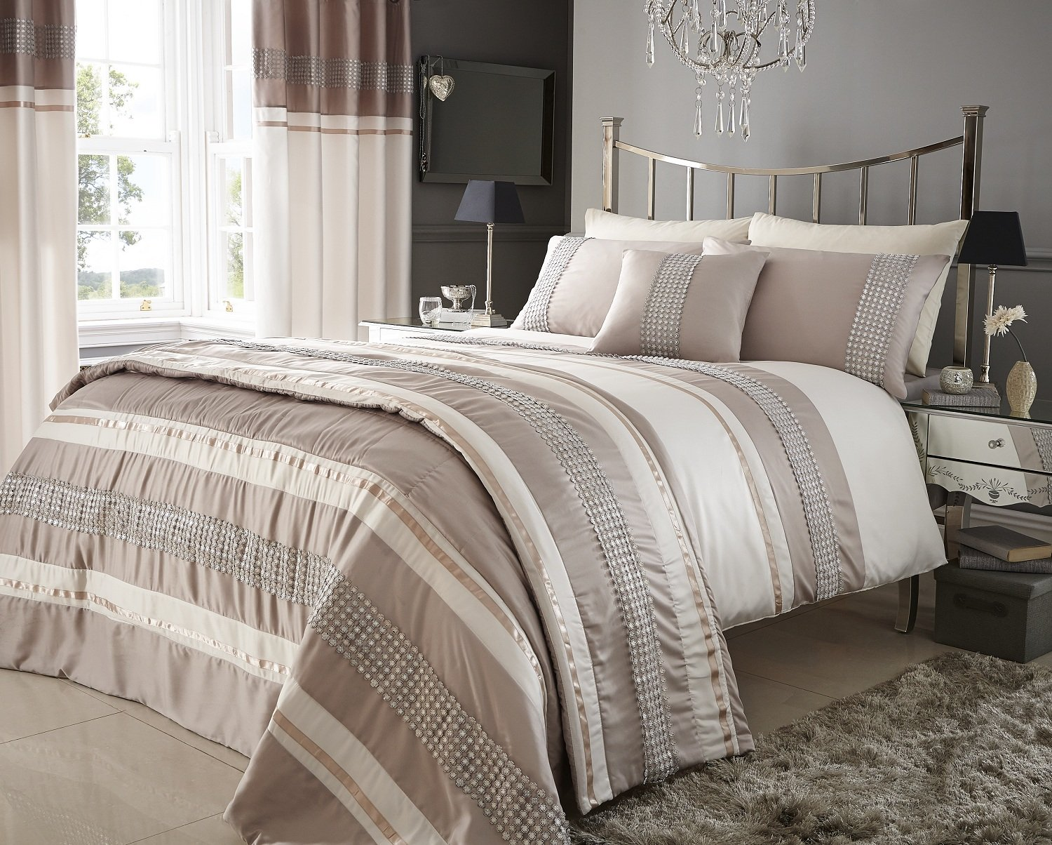 audrey twin cotton cover duvet set woven metallic in boost surya home product