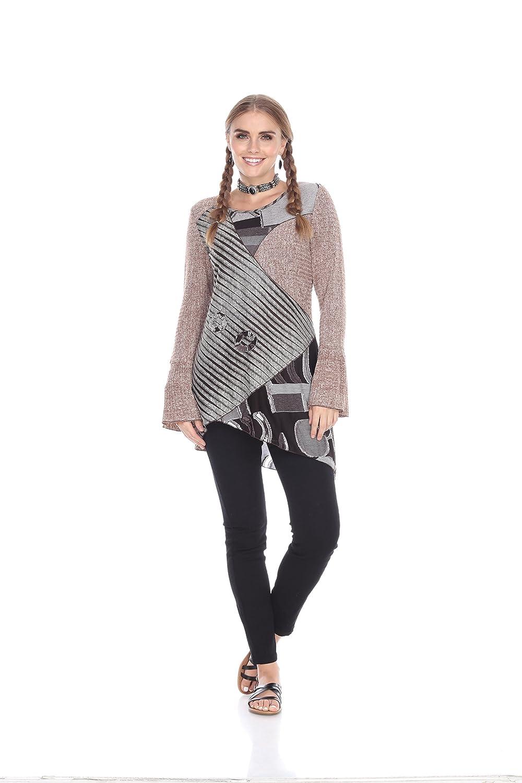 Kamana Rising International Womens Winter Bell Sleeved Patchwork Tunic