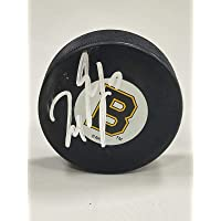 $50 » Milan Lucic Signed Boston Bruins Vintage Puck - w/COA - Autographed NHL Pucks