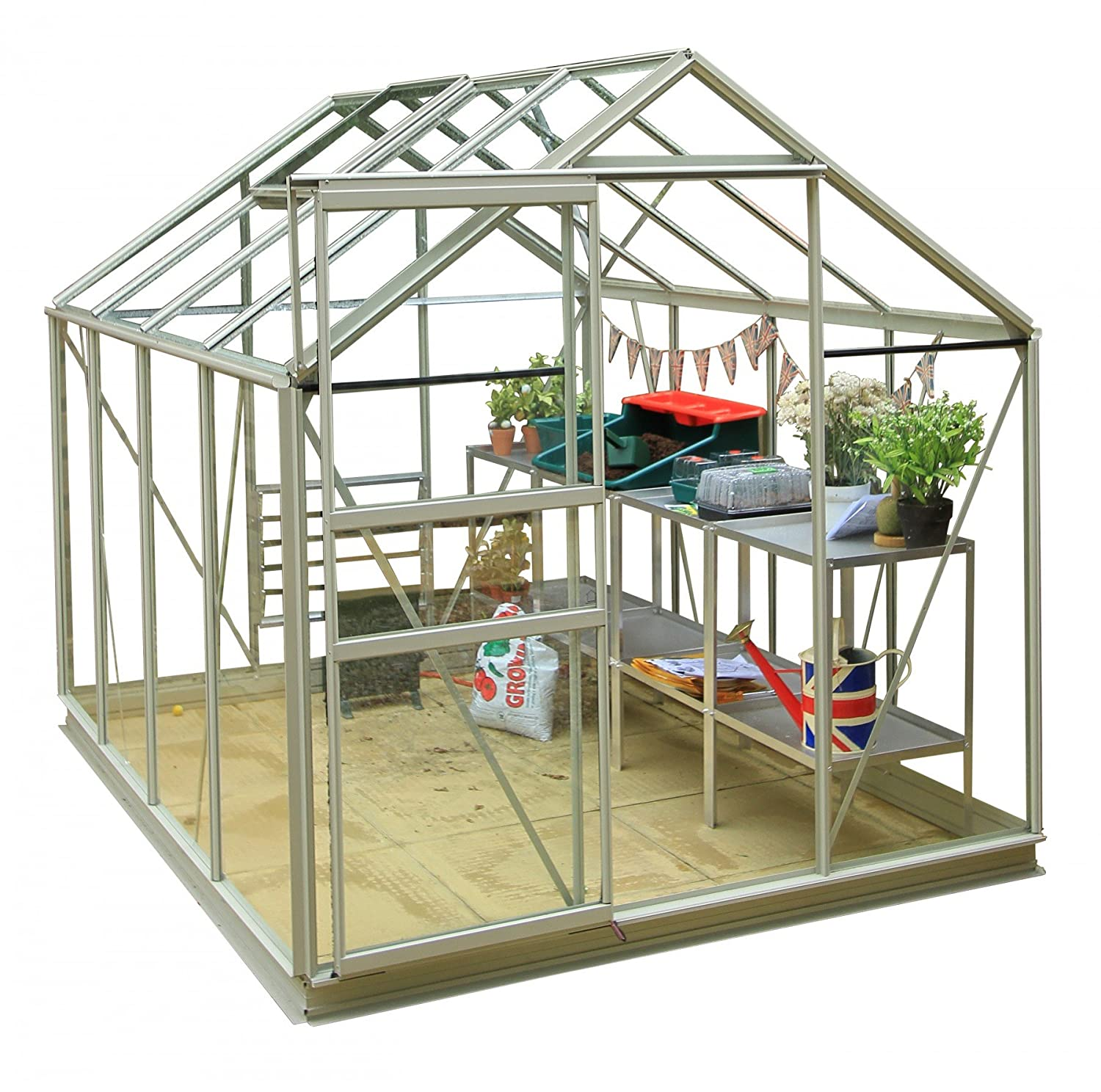 Simplicity Classic Pastel Sage Greenhouse (6Ft3 Wide (1918Mm) X 8Ft3