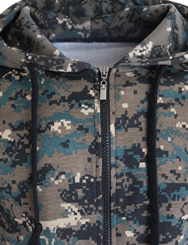 The-Tops Womens Casual Military Full-zip Hoodie Long Sleeve