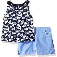 Nautica Conjunto de Playera sin Mangas con Pantalones Cortos para niña