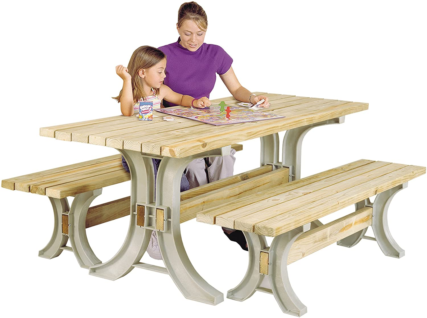 Picnic Table Bench Frames Brackets Kit Heavy Duty Structural Resin Patio Outdoor