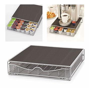 Parte superior Home Solutions máquina de café Cápsulas Soporte Soporte para cápsulas de almacenamiento cajón para Nespresso y Dolce Gusto cápsulas: ...