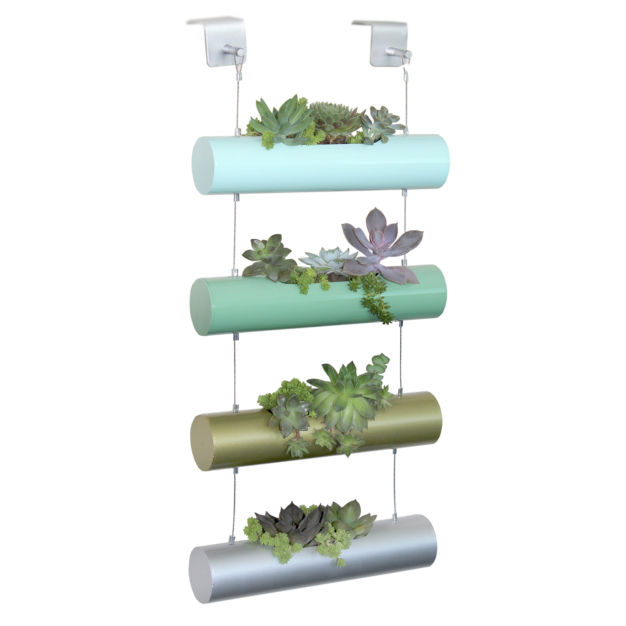 A6007 Four Season Vertical Zen Micro Garden Planter Succulent Cactus Small Plants Herbs Planting Cylinder System