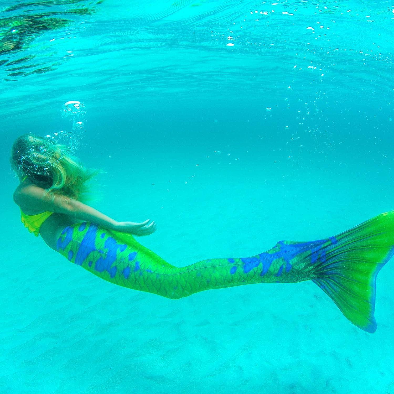para ni/ños y Adultos Edici/ón Limitada Fin Fun Cola de Sirena con monoaleta Ideal para Nadar