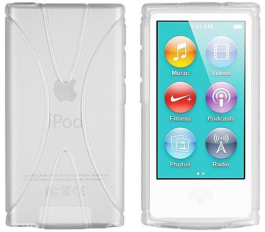 72 opinioni per Mumbi Custodia in X-TPU e silicone per iPod Nano 7G, Bianco trasparente