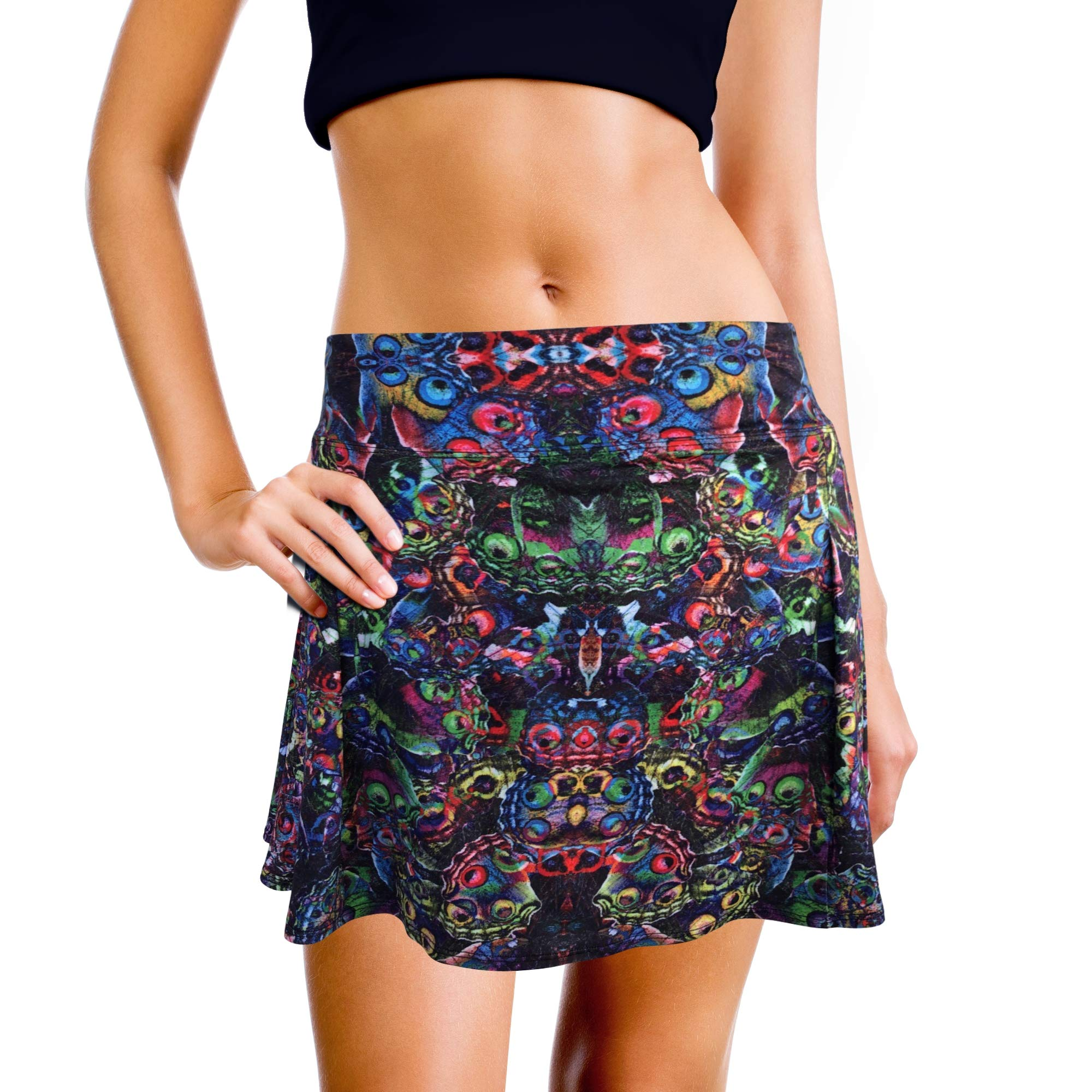 XrSzChic Womens Tennis Golf Athletic Exercise Printed Skirt Skorts Short Pockets by XrSzChic