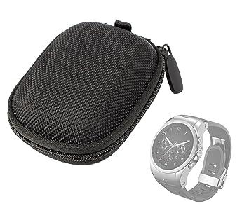 DURAGADGET Funda Rígida para LG Watch Urbane - Color Negro - Pequeña Y Manejable - Muy Resistente - con Compartimento Interno
