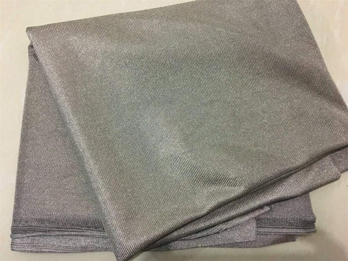 100% Silver Fiber Fabric Radiation EMF Protection Material Silver Conductive Fabric for Shielding Cage Sold by 80''x59'' inch by Amradield (Image #5)
