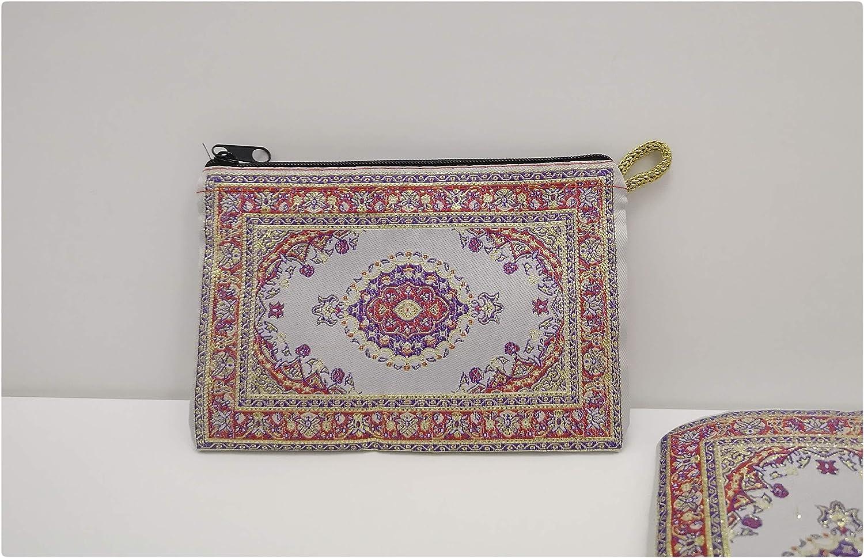 10 cm x 15 cm besticktes Ethnisches Kilim-Design T/ürkische M/ünzb/örse//Mini-Schminktasche