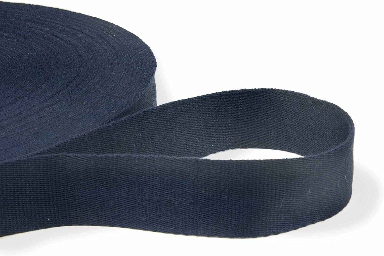 8-Natur Sehr hochwertiges Gurtband Taschenband einfarbig aus Baumwolle 40 mm breit und beidseitig verwendbar in vielen Farben f/ür Rucks/äcke blau Taschen und G/ürtel