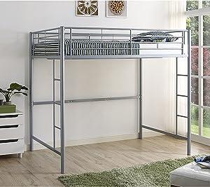WE Furniture AZDOLSL Full Bed, Silver