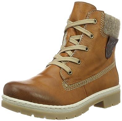 Rieker Bequeme Schuhe Stiefeletten Braun, Schuhe