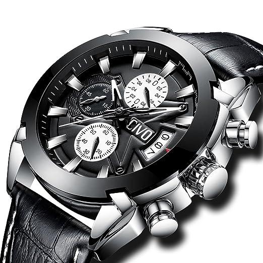 9cd4729d089 CIVO Mens Watches Black Brown Chronograph Multifunctional Waterproof Date Calendar  Wrist Watch for Men Teenager Boys