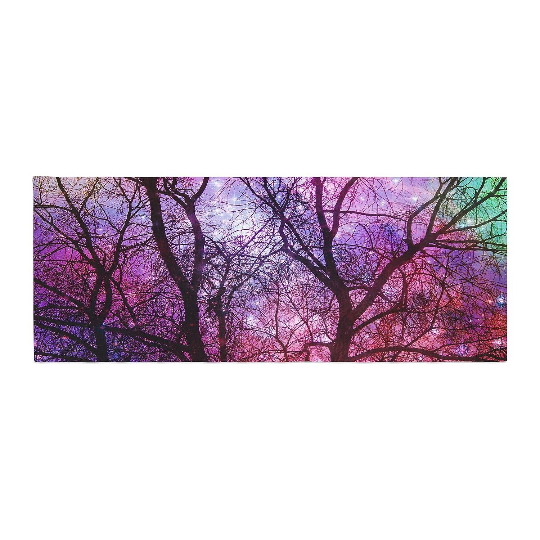 Kess InHouse Suzanne Carter Starry Night Purple Pink Bed Runner