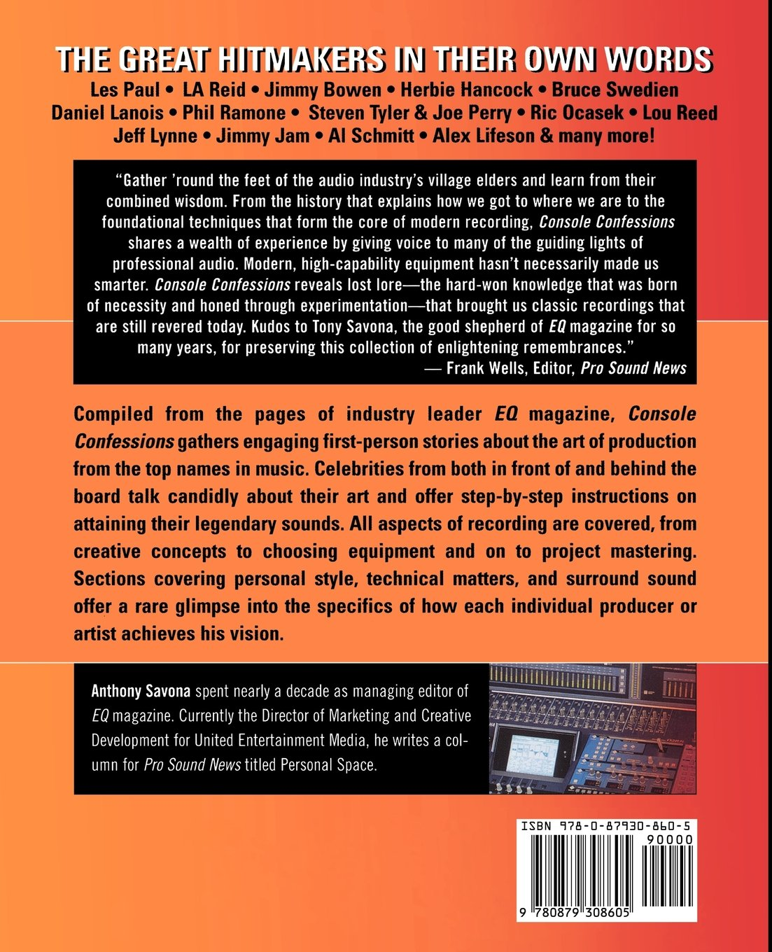 Console Confessions: The Great Music Producers In Their Own Words: Anthony  Savona: 9780879308605: Amazon: Books