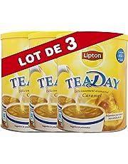 Lipton Tea Day Préparation Boisson Aromatisée Thé et Lait Caramel (Lot de 3x310g)