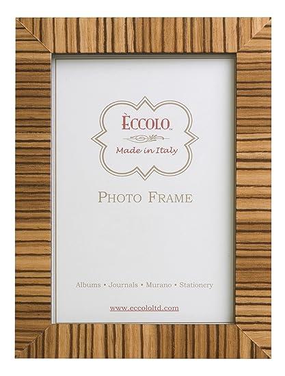Amazon.com - Eccolo Made In Italy Tan Zebra Striped Wood Frame ...