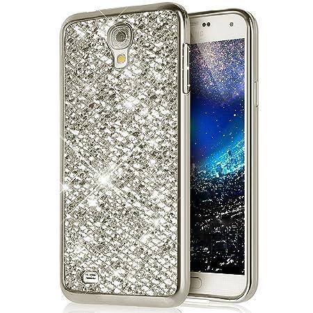 kompatibel mit Galaxy S4 Mini Hülle,Luxus Glänzend Glitzer Strass Diamanten Handyhülle TPU Silikon Hülle Case Tasche Weiche S
