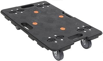 Carrito de mano de plástico, 150 kg, con plataforma para mover muebles, 595 x 405 mm: Amazon.es: Bricolaje y herramientas