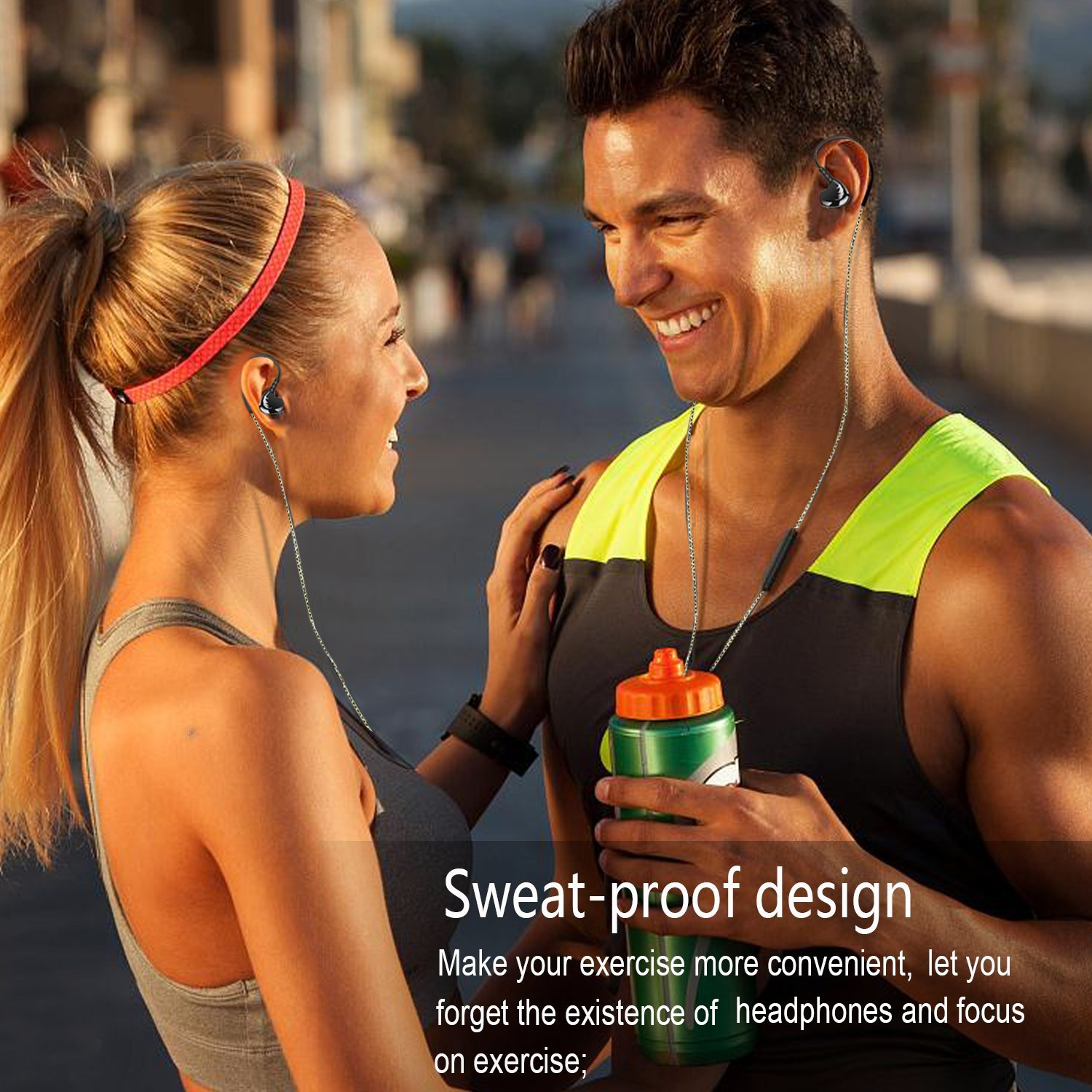 AGPTEK Adjustable Sport in-Ear Wired Earphone for Mp3 Players, Smartphones, Laptops, Tablets with 3.5mm Audio Line-in, 5 Sets Silicon Ear Buds (Green) by AGPTEK (Image #7)