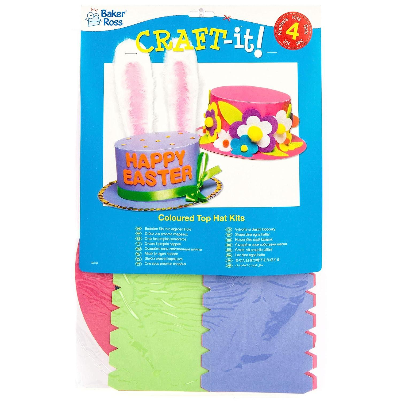 8aec2137805d3 Baker Ross- Kit para Crear Sombreros de Colores Que los niños Pueden  diseñar