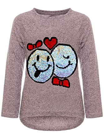 61f288935b BEZLIT Mädchen Kinder Pullover Wende Pailletten Sweatshirt Meliert 22856  Rosa Größe 104