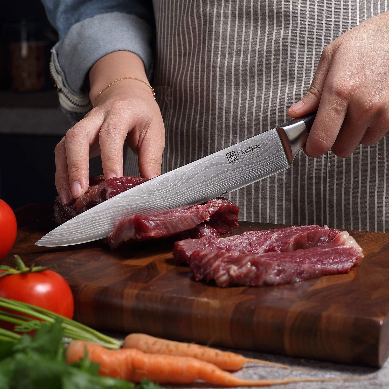 Amazon.com: PAUDIN Chef Cuchillo Pro Cuchillo de Cocina Alto ...