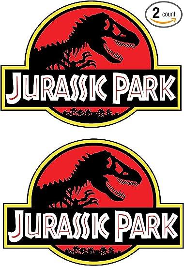 Amazon.com: WSQ Jurassic Park calcomanía de vinilo de 4 x 5 ...